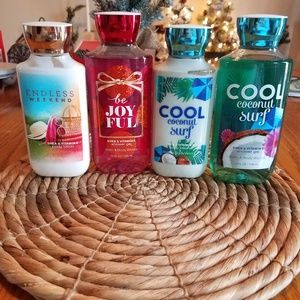 4 full size bath and body works lot